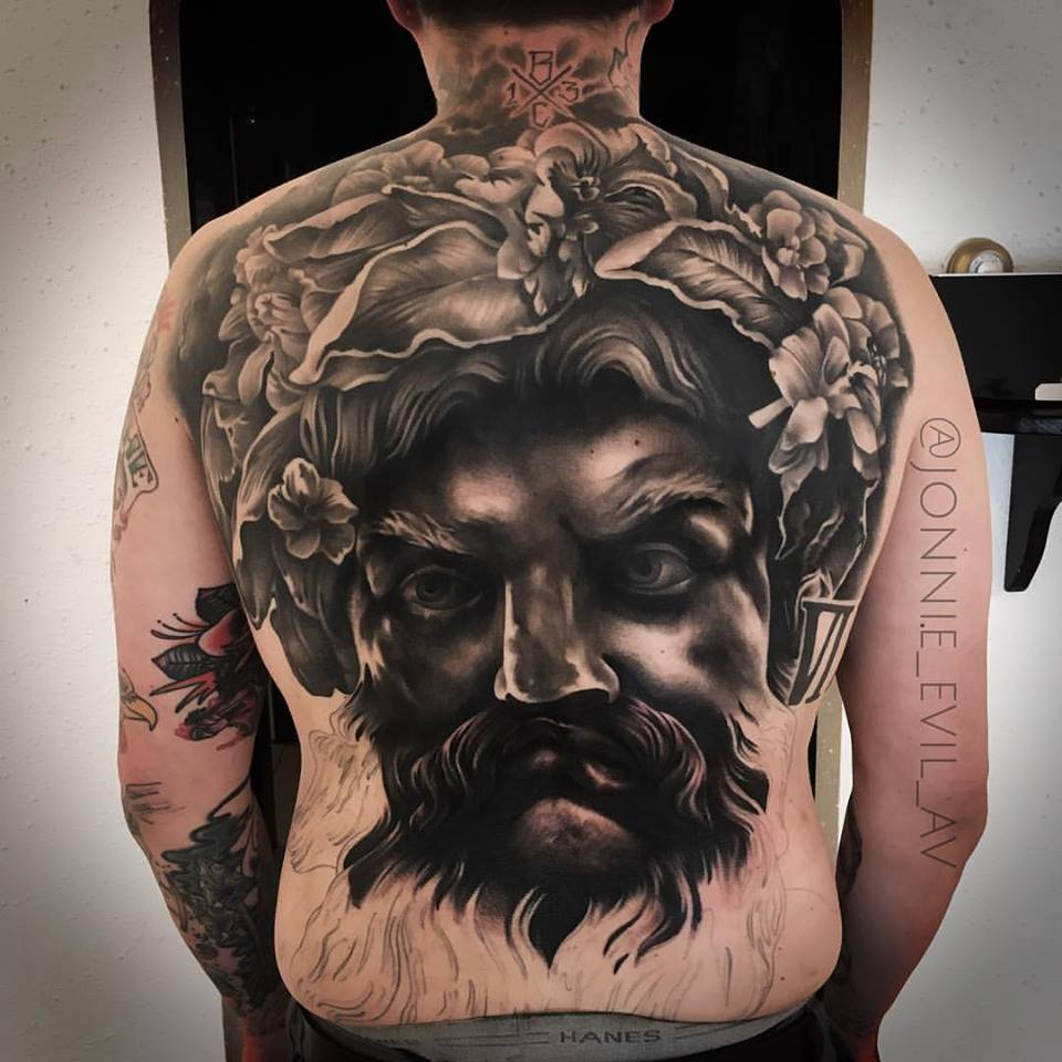 jonnie evil tattoo zeus black gray