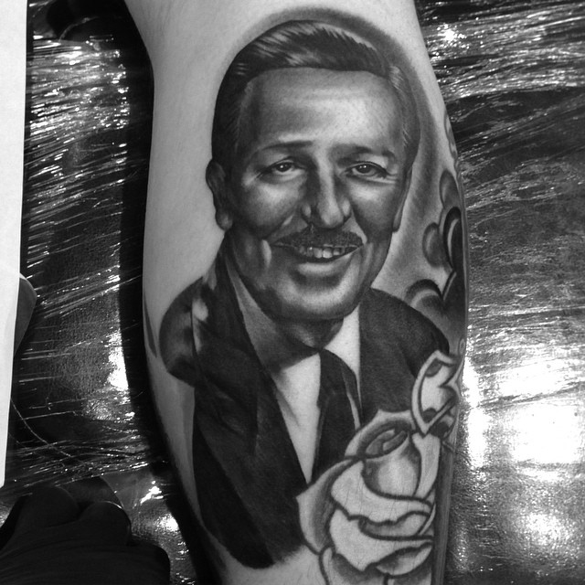jonnie evil tattoo walt disney portrait
