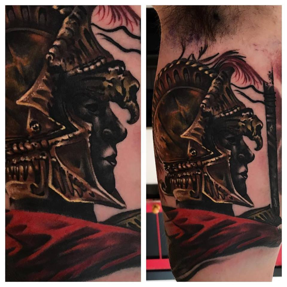 jonnie evil tattoo color warrior