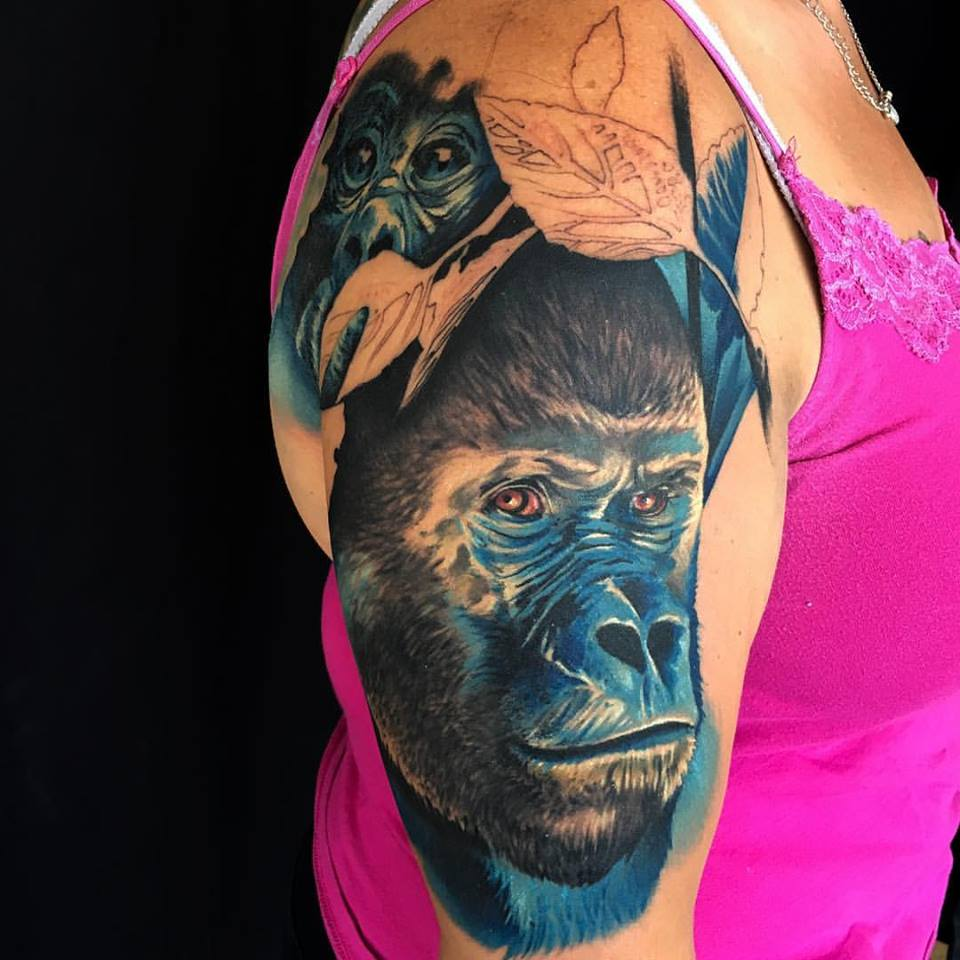 jonnie evil tattoo color gorilla