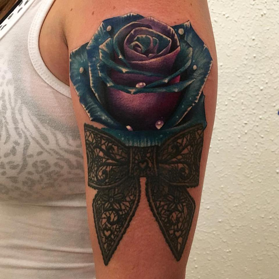 jonnie evil rose tattoo bow color