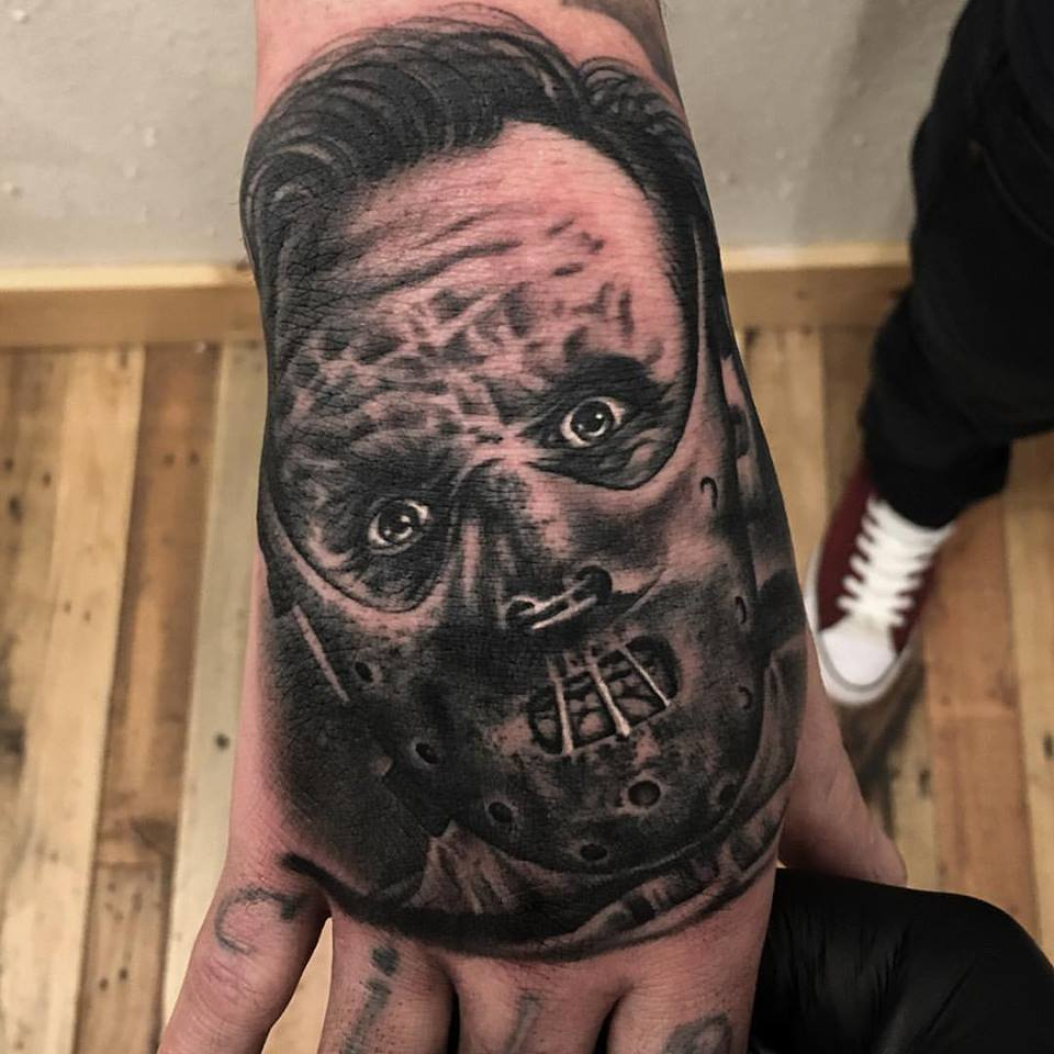 jonnie evil tattoo black gray hannibal lector