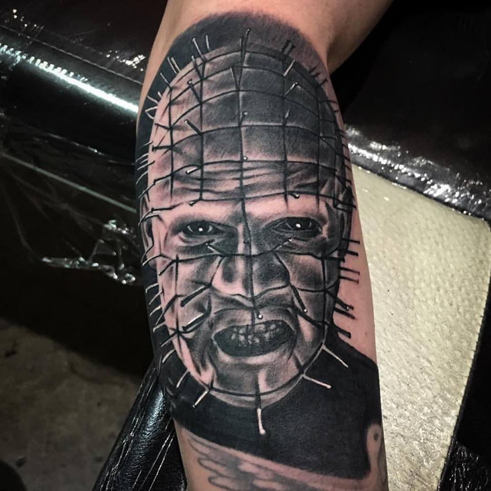 jonnie evil tattoo hell raiser portrait